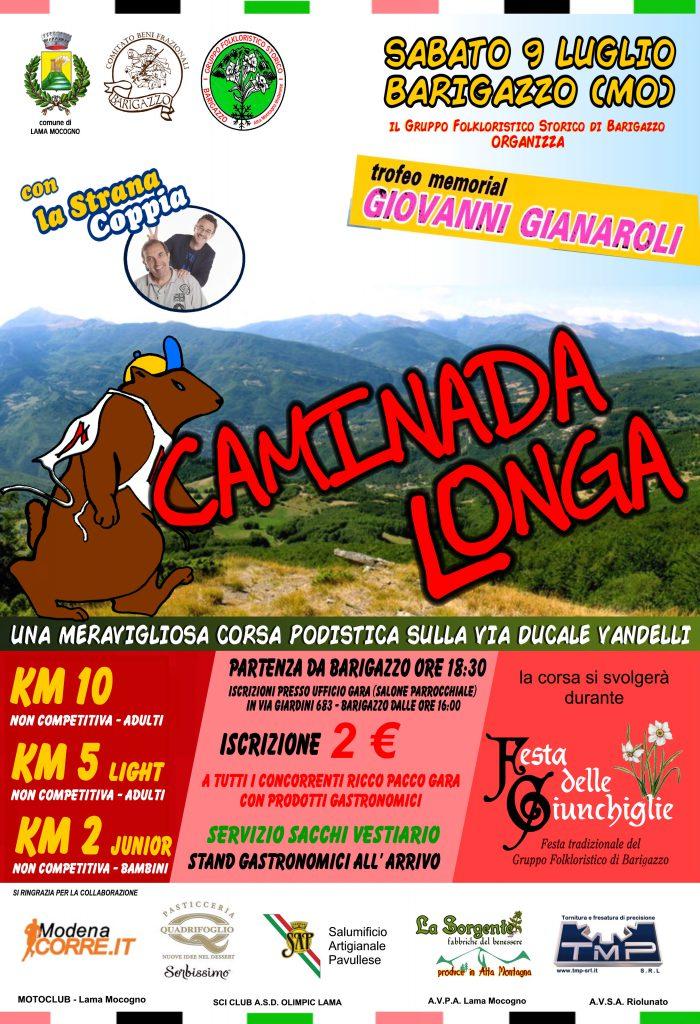 """il 9 luglio il Gruppo Folkloristico di Barigazzo organizza la """"Caminada Longa"""", una meravigliosa corsa podistica lungo la via Vandelli in memoria del nostro amico Giovanni Gianaroli...appassionati e non...vi aspettiamo"""